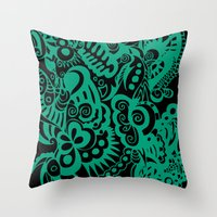Our Knives Redux In Gree… Throw Pillow