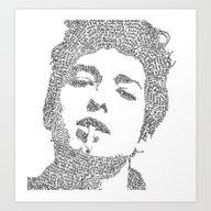 Art Print featuring Bob Dylan by S. L. Fina