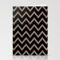 Black And Gold Glitter C… Stationery Cards