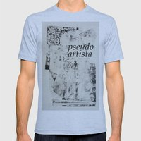 PSEUDOARTISTA Mens Fitted Tee Athletic Blue SMALL