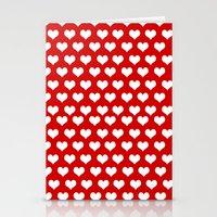 Valentine Hearts  Stationery Cards