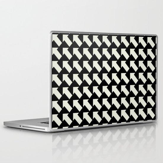 White Arrows Laptop & iPad Skin