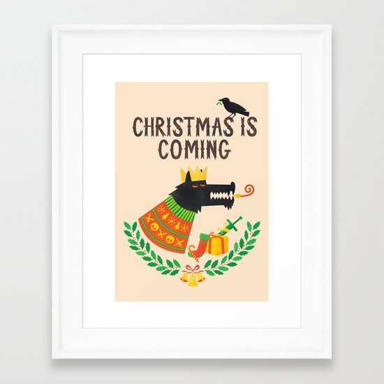 Christmas is coming Framed Art Print