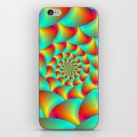 Spiral Spheres In Red Ye… iPhone & iPod Skin