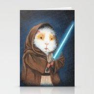 Jedi Guinea Pig Stationery Cards