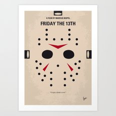 No449 My Friday the 13th minimal movie poster Art Print