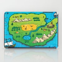 Old pirate's map iPad Case