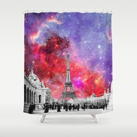NEBULA VINTAGE PARIS Shower Curtain