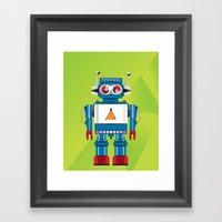 Robot SteveO Framed Art Print