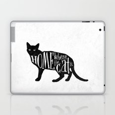 Home Is Where The Cat Is. Laptop & iPad Skin