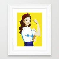 The new Rosie Framed Art Print