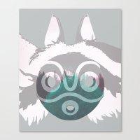 Dreamland Mononoke Mask Canvas Print