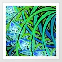 Jungle Waterfall Art Print