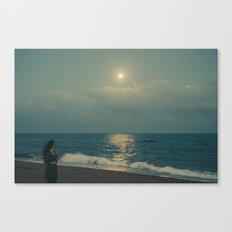 Quédate luna Canvas Print