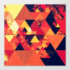 Pure Fire- Triangles Canvas Print