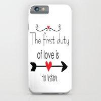 Love Is To Listen iPhone 6 Slim Case