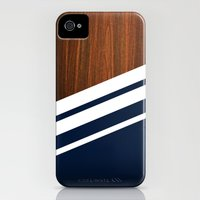 iPhone 4s & iPhone 4 Cases featuring Wooden Navy by Nicklas Gustafsson