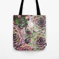 Hens and Chicks Tote Bag