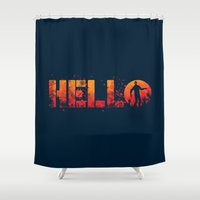 HELL-O Shower Curtain