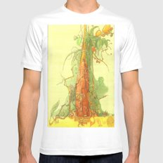 Treezz White SMALL Mens Fitted Tee