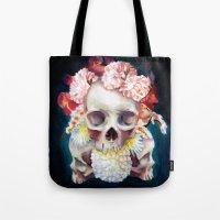 Flowers for Skulls Tote Bag