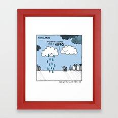Why it Rains. Framed Art Print