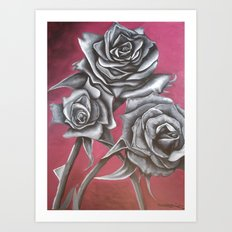 Cloaked in Crimson Art Print