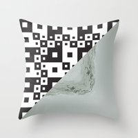 Waves/grid #7 Throw Pillow