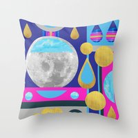 Abstractions No. 3: Moon Throw Pillow