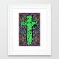 Slime X Cross Framed Art Print