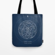 Doctor Who: Wibbly Wobbl… Tote Bag