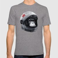 Astro Chimp Mens Fitted Tee Tri-Grey SMALL