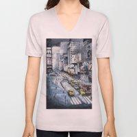 Time Square - New York C… Unisex V-Neck