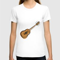 guitar T-shirts featuring Guitar by shopaholic chick
