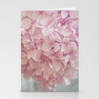 Delicate, pastel pink hydrangea flower Stationery Cards