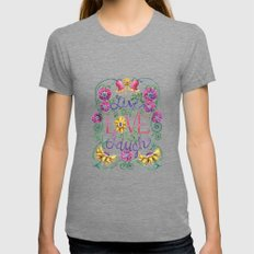 Live Love Laugh Womens Fitted Tee Tri-Grey SMALL