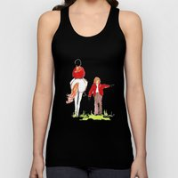Sketches of a favorite equestrian Unisex Tank Top