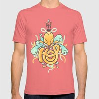 Hop Pop ! Mens Fitted Tee Pomegranate SMALL