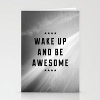 Be Awesome II Stationery Cards