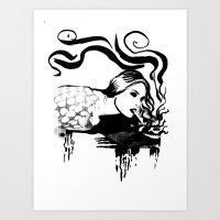 Cigarette Art Print