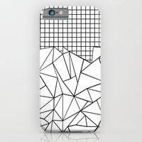 Abstract Grid #2 Black on White iPhone 6 Slim Case