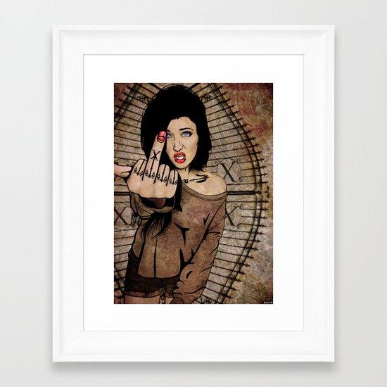 Exes  Framed Art Print