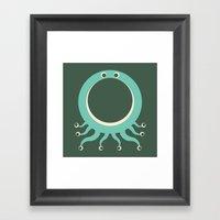 Letter O // Animal Alphabet // Octopus Framed Art Print