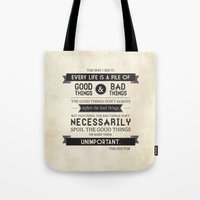 Good Things & Bad Things Tote Bag
