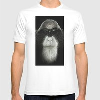 Debrazza's Monkey  Mens Fitted Tee White SMALL