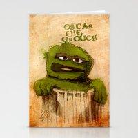 Oscar the Grouch Stationery Cards