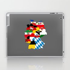 germany regions flag map Laptop & iPad Skin