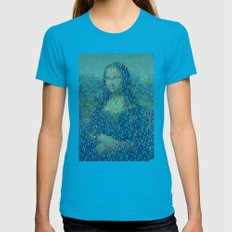 Don't Cha Womens Fitted Tee Teal SMALL