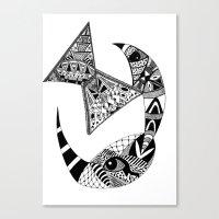 Rhino Horn Canvas Print