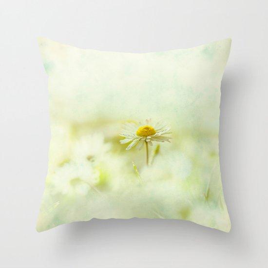 Lone Daisy Throw Pillow